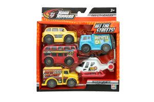 Набір іграшок для дітей від 3-х років №41402 Міні-техніка Міський транспорт Road Rippers 1шт