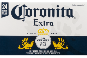 Coronita Extra Beer Bottles - 24 CT