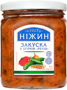 Закуска з огірків Реліш Ніжин с/б 460г