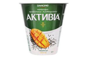 Бифидойогурт 2.5% Манго-чиа Активіа ст 260г