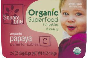 Square One Organic Superfood for Babies Organic Papaya Puree - 2 PK