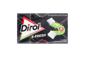 Резинка жевательная без сахара со вкусом клубники и лайма Х-Fresh Dirol к/у 19.8г