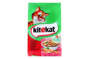 Корм сухий для дорослих котів З яловичиною та овочами KiteKat м/у 300г