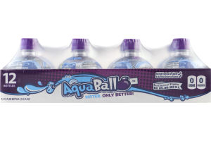 AquaBall Flavored Water Drink Grape - 12 CT