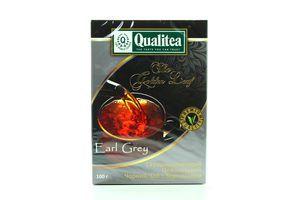 Чай черный среднелистовой с бергамотом Earl Grey Qualitea к/у 100г