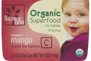 Square One Organic Superfood for Babies Organic Mango Puree - 2 PK