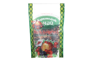 Чай из плодов, ягод и трав Мультифрукт Карпатский чай д/п 100г