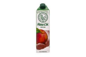 Сок персиковый с мякотью Наш сік т/п 0.95л