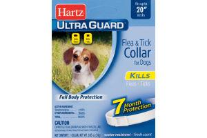 Hartz Ultra Guard Flea & Tick Collar For Dogs Fresh Scent White