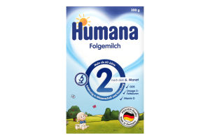 Смесь молочная сухая для детей от 6 до 12 месяцев №2 Humana к/у 300г