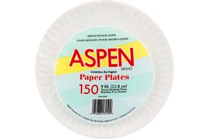 Aspen Paper Plates 9 IN. - 150 CT