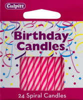 Culpitt Birthday Candles Numeral Candle Pink