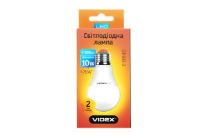 Лампа світлодіодна A60e 10W E27 4100K 220V Videx 1шт