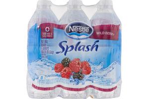 Nestle Splash Flavored Water Wild Berry - 6 PK