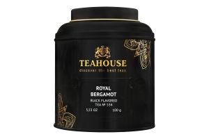 Смесь чаев ароматизированная Роял Бергамот Teahouse ж/б 100г
