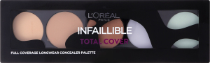 LOR_MAQ палетка консилерів 10 для обличчя з 5 відтінків Infaillible Тотал Кавер
