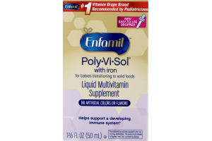 Enfamil Poly-Vi-Sol With Iron Liquid Multivitamin Supplement
