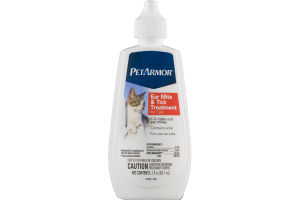 Pet Armor For Cats Ear Mite & Tick Treatment