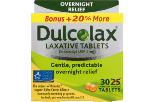 Dulcolax Laxative Tablets 30ct