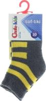 CONTE-KIDS SOF-TIKI Шкарпетки дитячі р.10 210 темно-сірий-жовтий