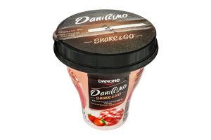 Коктейль йогуртний 5.2% Полуничне морозиво Shake&Go Даніссімо ст 260г
