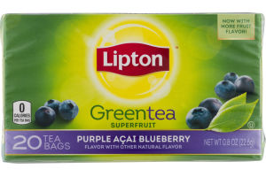 Lipton Greentea Superfruit Purple Acai Blueberry Tea Bags - 20 CT