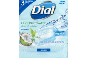 Dial Glycerin Soap Bars Coconut Water - 3 CT