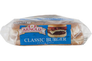 Arnold Select Classic Burger White Rolls - 8 CT