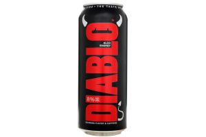 Пиво Diablo Black Alco Energy ж/б