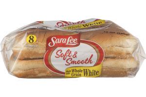Sara Lee Soft & Smooth Hamburger Buns Whole Grain White - 8 CT
