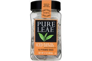 Pure Leaf Iced Black Tea With Peach Pyramid Bags - 16 CT