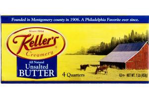 Keller's Creamery Unsalted Butter - 4 CT
