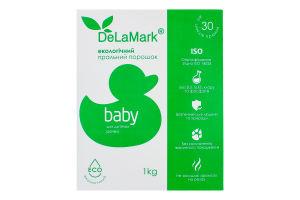 Порошок стиральный концентрированный бесфосфатный Baby Eco DeLaMark 1кг