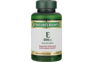 Nature's Bounty Vitamin E 400 IU Rapid Release Softgels - 120 CT