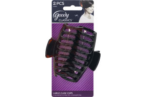 Goody Classics Large Claw Clips - 2 CT