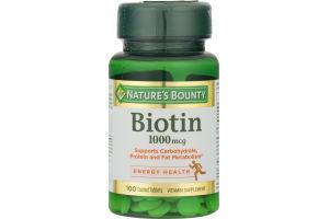 Nature's Bounty Biotin 1000 MG - 100 CT