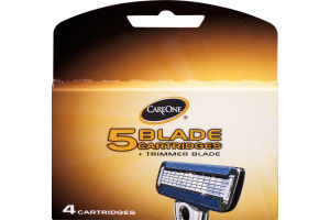 CareOne 5 Blade Cartridges + Trimmer Blade - 4 CT