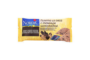 Галета из овса с темным шоколадом Nordic м/у 30г