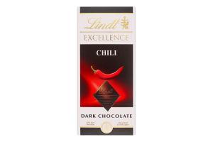 Шоколад темный Chili Excellence Lindt к/у 100г