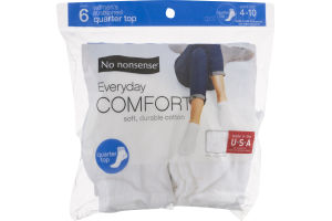 No nonsense Everyday Comfort Quarter Top Socks - 6 PR