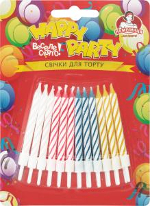 Свечки для торта Happy Party Помічниця 24шт