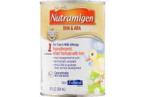 Nutramigen DHA & ARA Hypoallergenic Infant Formula with Iron 0-12 Months