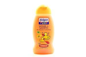 Гель-шампунь для волос детский без слез Kids Абрикос Dulgon 250мл