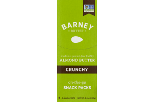 Barney Butter Almond on-the-go Snack Packs Crunchy - 6 PK