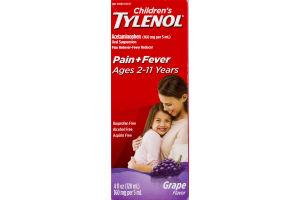 Children's Tylenol Pain + Fever Grape