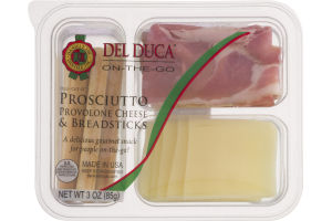 Del Duca On-The-Go Prosciutto Provolone Cheese & Breadsticks