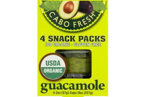 Cabo Fresh Guacamole Snack Packs - 4 PK