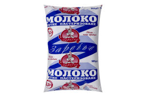 Молоко 2.5% пастеризоване Заречье м/у 900г