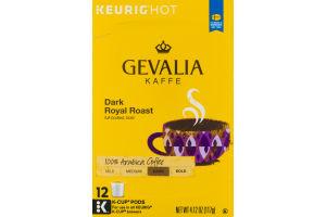 Gevalia Kaffe Dark Royal Roast 100% Arabica Coffee K-Cup Pods - 12 CT