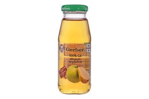 Сік яблучно-грушевий освітлений б/цукру Gerber 175мл